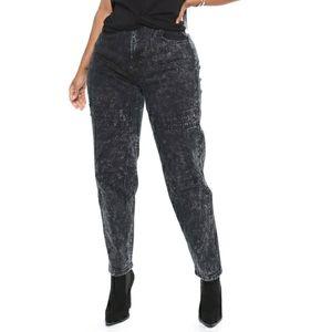 Fashionnova Black Acid Wash Jeans